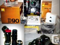 OFFERING AN EXCELLENT NIKON D90 THAT HAS THE ENTIRE