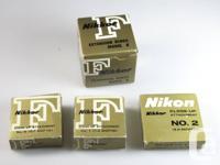 1.Nikon F K1-K5 Macro Extension tube rings Model K with