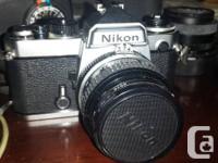 NIKON FE 3080313 SLR CAM (not digital). Consists of a