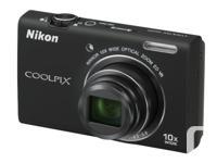 Offering my Nikon Coolpix S6200 Digital camera black.