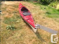 "Nimbus Cygnet Touring Kayak 14'9"" single fibreglass"