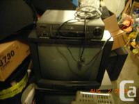 Nine TV's various sizes one combo/vcr model and one VCR