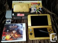 Zelda Themed Limited Edition Nintendo 3DS XL for sale.