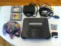 I have a Black Nintendo 64 console with hookups, a