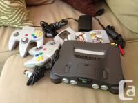 Offering a Nintendo 64 (N64). Features Mario Kart 64