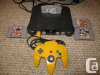 I have a Nintendo 64 system with 4 games. The system