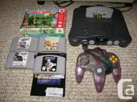 I have a Nintendo 64 system with 6 games. The system