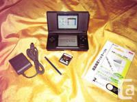 Nintendo DS Lite ~ Cobalt & Black Gaming Console.