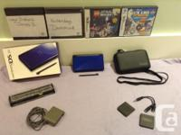 Great disorder navy blue DS lite with: Initial box-