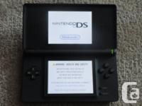 Selling a blue/black Nintendo DS Lite in excellent