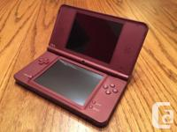 Red DSi XL in great condition. Comes with AC charger,