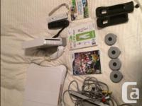 Wii Consol, 2 controllers, covers for the controllers