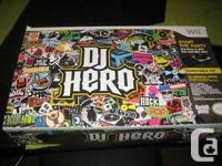 nintendo wii dj hero kit 10/10 condition in the box