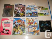 Up for sale I have Nintendo Wii games and a few Wii