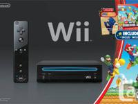 This is the Nintendo Wii Holiday Bundle Black Console