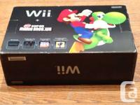 nintendo wii black console with wii mote nunchuck all