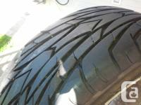 I'm selling Nisan - 4 wheels.  215/55 R17 read hawk,