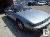 Make. Nissan. Version. 240SX. Year. 1992. Colour.