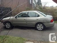 Looking to sale a 2004 Nissan Sentra. The car has been