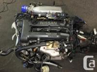 JDM NISSAN SR20DET S15 2.0L ENGINE WITH MT 6 SPEED