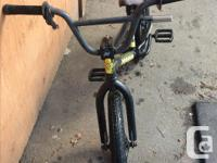 This is a trick bmx, it has 18 inch tires, it is very