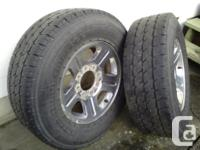 Nitto Dura Grappler truck tires LT275/70R18 mounted on