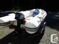 Noahyacht Inflatable Rib Boat 11ft. Includes 15Hp