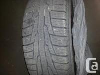 "Nokian 14"" winter tires on rims, excellent tread. Got a"