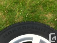 Set of 4 winter tires - rims and treads in excellent