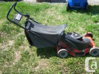 3.5 hp Briggs and Stratton engine. Oil changed. Blade