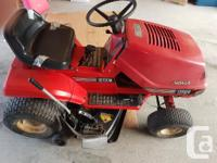 Noma Riding Lawn tractor. Noma 12 hp 38 inch cut. Needs