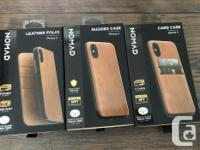 Brand new NOMAD iPhone X leather cases, new in box and