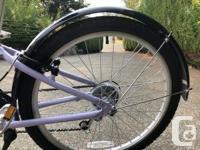 Purple. Almost new aluminum road bike. 12-speed