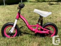"Pink Norco Runner bike with 10"" wheels - $40 Great"