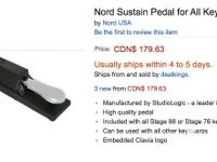 No keyboard setup is complete without a sustain pedal,