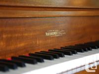 Toronto Built Nordheimer Upright Grand Player Piano -