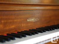 Toronto Built Nordheimer Upright Grand Player Piano -