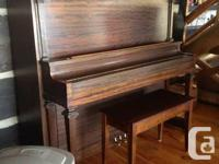 Gorgeous Nordheimer upright piano in mint condition!