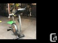 Nordic Track Up right exercise cycle. This bike has sat