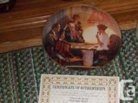 Beautiful 8 1/2 inch plates depicting Norman Rockwell's