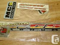 Assorted nos 80's MCS parts. A Florida bmx manufacture.