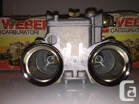 Three matched NOS Weber Carburetors, Model number 40