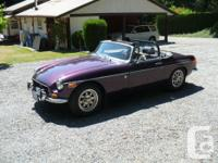 Make MGB Model MGB Year 1972 Colour dark purple kms