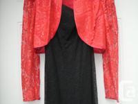 never worn, Red lace Bolero Designer nu-mode TORONTO