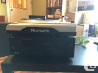 Nuwark USB turntable with multichannel amp and two