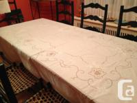 Beige never-used Banquet Table linen, with 12 Matching