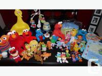 Complete nursery bedding set of Sesame Street. Comes
