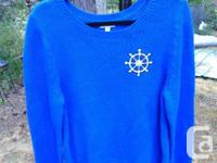 Here is offered a terrific nautical themed sweater