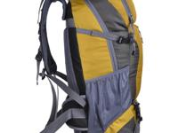 Nylon Rucksack Backpack Bag - 40L - Mustard - water