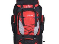 Nylon Rucksack Backpack Bag - 80L - Red - water